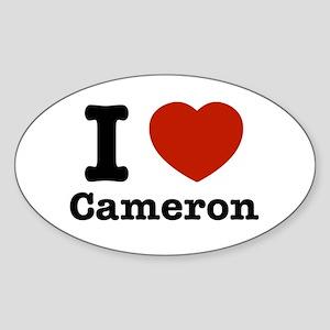I love Cameron Sticker (Oval)