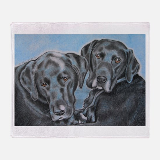 Unique Black labrador Throw Blanket