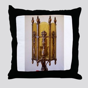 Antique_Furniture_Lamp_Amber1 Throw Pillow