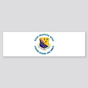 82nd Training Wing with Text Sticker (Bumper)