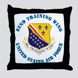 82nd Training Wing with Text Throw Pillow