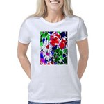 Colorful Flower Abstract P Women's Classic T-Shirt