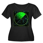 Radar4 Women's Plus Size Scoop Neck Dark T-Shirt
