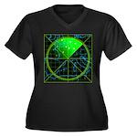 Radar4 Women's Plus Size V-Neck Dark T-Shirt