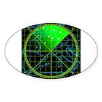 Radar4 Sticker (Oval)