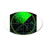 Radar4 38.5 x 24.5 Oval Wall Peel