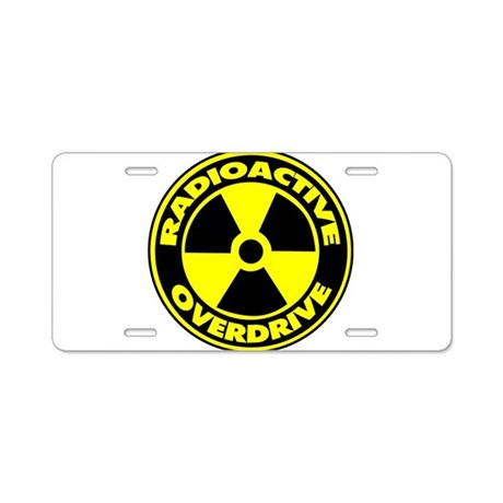 Radioactive Overdrive Logo Aluminum License Plate