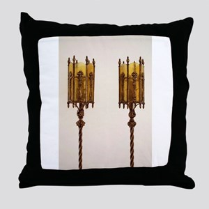 Antique_Furniture_Lamp_Amber_ Throw Pillow