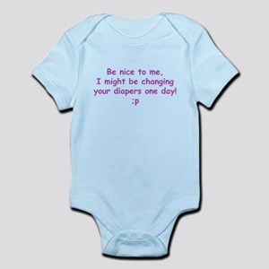 Just Think! I might be changi Infant Bodysuit
