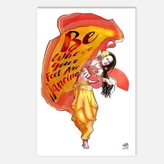 Unique Belly dancer Postcards (Package of 8)