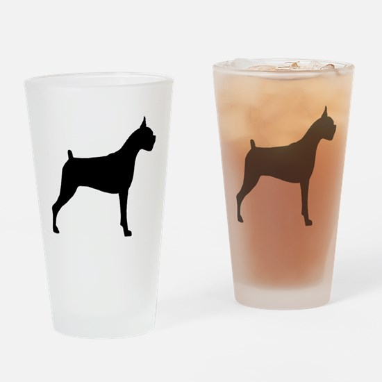 Boxer Dog Drinking Glass