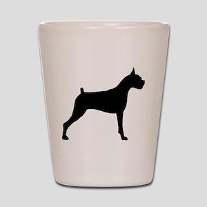 Boxer Dog Shot Glass