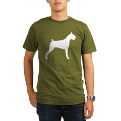 Boxer Dog Organic Men's T-Shirt (dark)