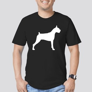 Boxer Dog Men's Fitted T-Shirt (dark)