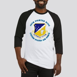 49th Fighter Wing with Text Baseball Jersey