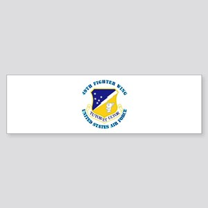 49th Fighter Wing with Text Sticker (Bumper)