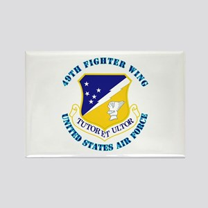 49th Fighter Wing with Text Rectangle Magnet