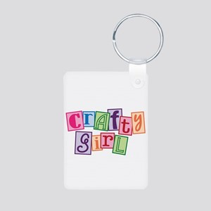Crafty Girl Aluminum Photo Keychain