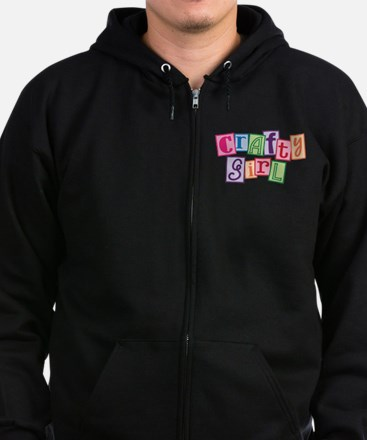 Crafty Girl Zip Hoodie (dark)