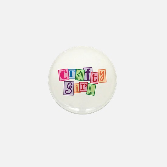Crafty Girl Mini Button