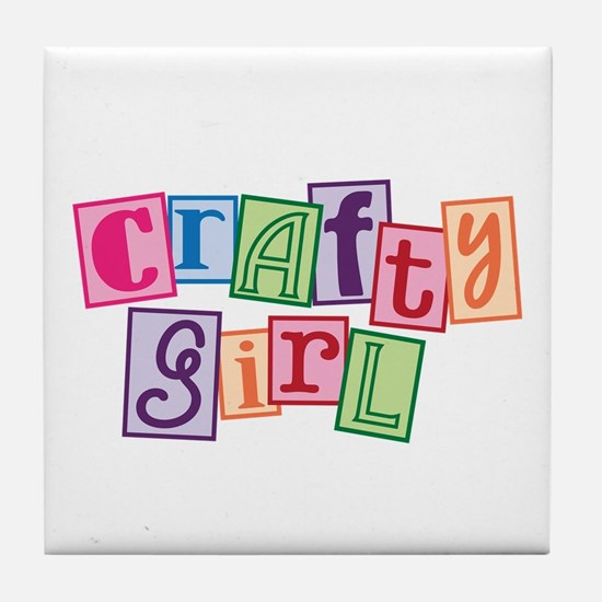Crafty Girl Tile Coaster