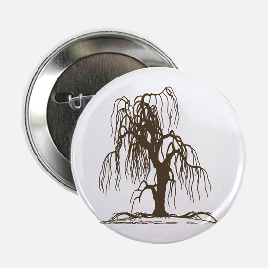 """Weeping Willow Tree 2.25"""" Button"""
