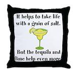 Grain Of Salt Throw Pillow
