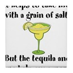 Grain Of Salt Tile Coaster