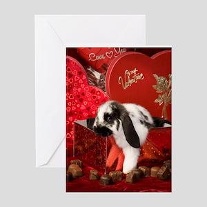 Valentine's Bunny Greeting Card