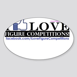 I Love Figure Competitions Sticker (Oval)
