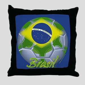 Futebol Brasileiro Throw Pillow