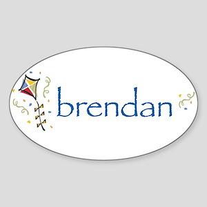 Brendan Oval Sticker