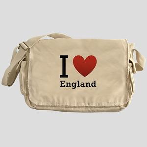 I Love England Messenger Bag