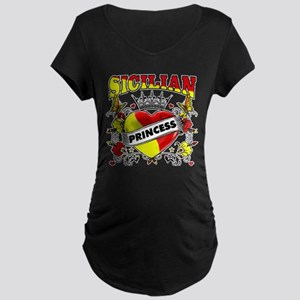 Sicilian Princess Maternity Dark T-Shirt