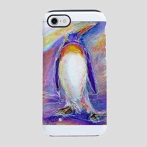 Penguin! Colorful, fun, nature art! iPhone 7 Tough