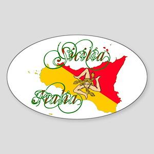 Sicilia Italia Sticker (Oval)