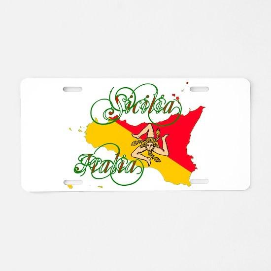 Sicilia Italia Aluminum License Plate