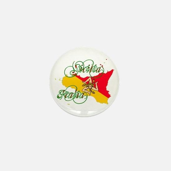 Sicilia Italia Mini Button