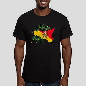 Sicilia Italia Men's Fitted T-Shirt (dark)