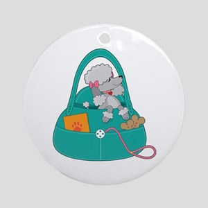 Travel Poodle Ornament (Round)