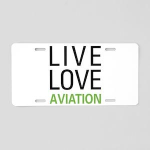 Live Love Aviation Aluminum License Plate