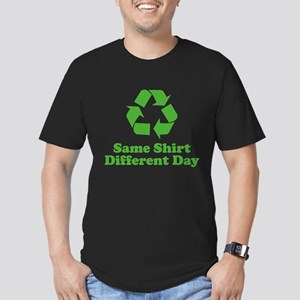 Same Shirt Different Day Men's Fitted T-Shirt (dar