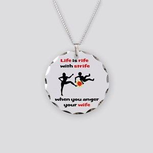 Romantic Comedy II Necklace Circle Charm