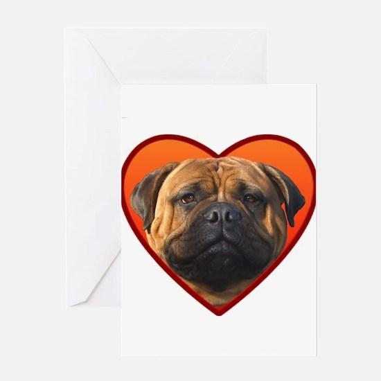 Valentine's Bullmastiff Greeting Card