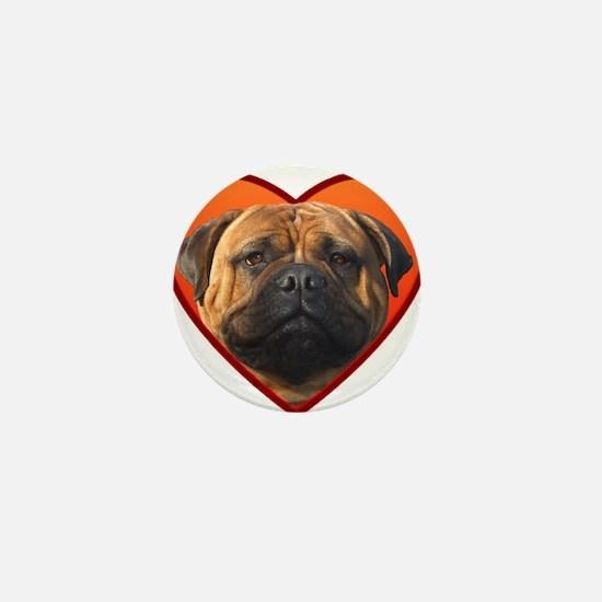 Valentine's Bullmastiff Mini Button