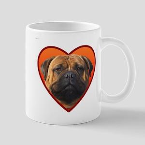 Valentine's Bullmastiff Mug
