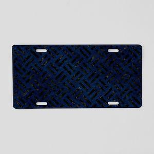 WOVEN2 BLACK MARBLE & BLUE Aluminum License Plate