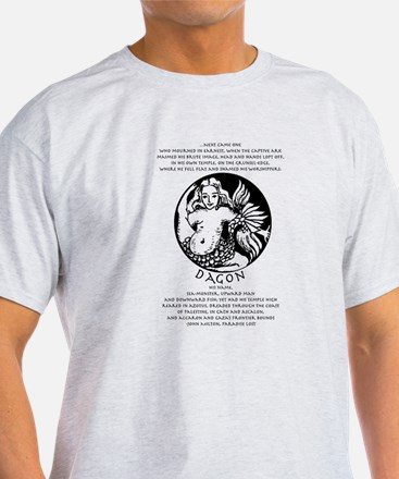 Dagon with Paradise Lost text T-Shirt