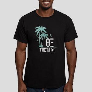Theta Xi Palm Trees Men's Fitted T-Shirt (dark)
