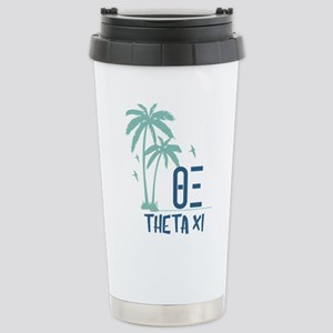 Theta Xi Palm Tre 16 oz Stainless Steel Travel Mug